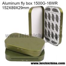 Caixa de pesca com mosca por atacado Caixa de voar de alumínio 16 Compartimento