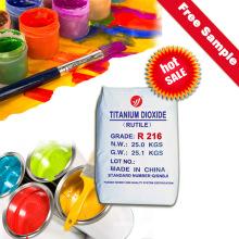Rutilo Dióxido de titanio R216 que tiene buenas propiedades ópticas y propiedades excelentes del pigmento
