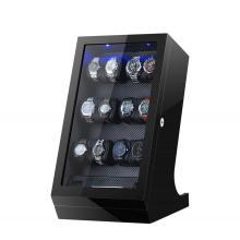 caixa de madeira de luxo de enrolador de relógio para relógio mecânico
