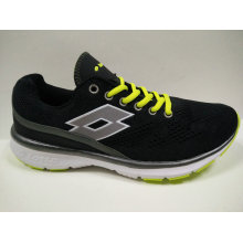 Itália Brand Shoes Black Gym Shoes para Senhoras