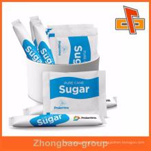 Embalaje de bolsita de azúcar de caña de plástico de alta calidad con impresión de huecograbado