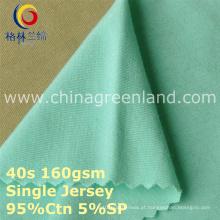 95/5 algodão spandex penteado jérsei tricô tecido para roupa interior (gllml416)