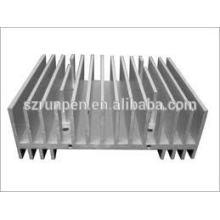 Dissipador de calor de extrusão de material Al6061