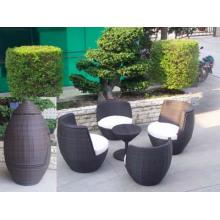 Patio Furniture Poly Rattan Sofa Stackable Outdoor Sofa Set