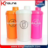 700ml plastic protein shaker bottle with lid (KL-7028)