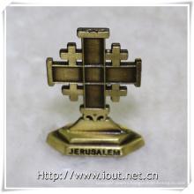 Metal Cross Antique Religious Statues (IO-ca096)