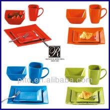 Farbe glasiert Keramik Dinner Set Hersteller