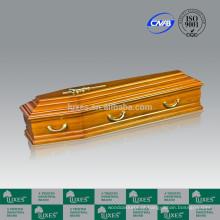 Caixão de madeira estilo europeu italiano para Funeral caixão barato adulto caixão