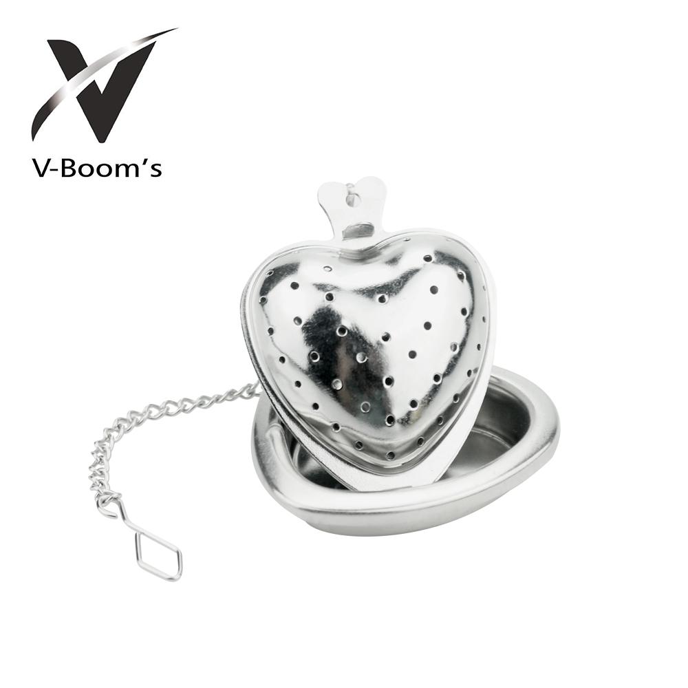 Cute Heart Shaped Metal Tea Infuser