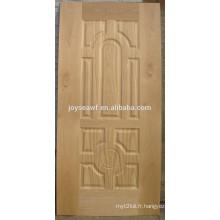 Panneau de bois Porte Design teak hdf porte de la peau pour la maison