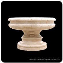 China barato jardim decoração granito vaso de flores