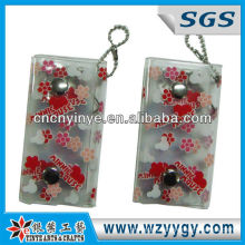 Cute Pvc Key Wallet / Bag For promotion with ball chain