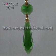 DX07 verde cristal candelabro cair