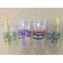 Copa plástica para bebidas frías