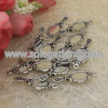 Antique Silver Mirror Charms Pendentifs Drop 10 * 27MM
