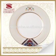 Plaque en céramique ronde de peinture de luxe de conception moderne de cuisine