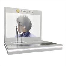 Présentoir de casque en acrylique transparent Apex