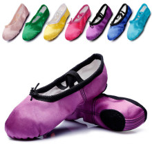 Women Ballet Dance Toe Shoes Flat Satin Pointe Shoes for Girl