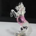 estatuetas de cavalo de vidro cristal animal