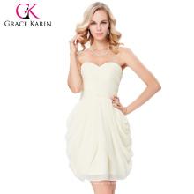 Vestido de dama de honor sin tirantes de la dama de honor del amor del vestido de boda del cuello del amor de Karin de la tolerancia sin tirantes del tamaño 7 US $ 4 ~ 16 GK000124-1