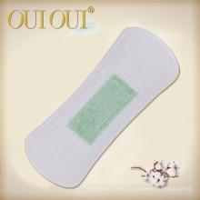 Sinta-se livre envolvido forros de calcinha de algodão orgânico respirável individualmente