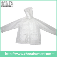 Yj-1057 Clear Transparente PVC Womens leichte Regenjacke Damen Regenbekleidung