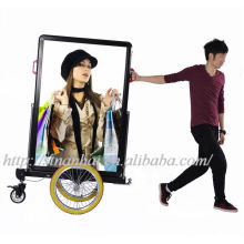 J8B-0001 [08hrs] New products double faces aluminum mobile advertising led bike trailer