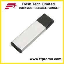 Material de alumínio promocionais envolvendo USB Flash Drive (D128)