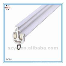 Rail rideau en plastique PVC de haute qualité pour projet