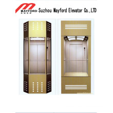 Praktischer Panorama-Aufzug mit Sicherheitsglaskabine