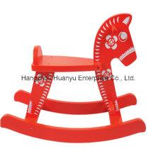 Fuente de fábrica de madera Rocking Caballo-Rojo Flower Horse Rocker