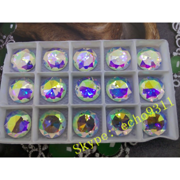20mm Round Ab Sew on Glass Stones for Garment Ornanment