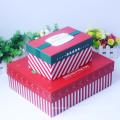 Boîte de papier cadeau de luxe en carton de Noël