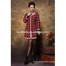 Hot sale new design 2016 autumn wear chic women long trench coat