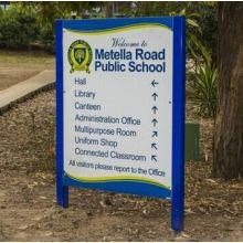 Escola pública guia diretório sinalização de piso