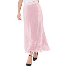 "Kate Kasin Mujer Retro Vintage Luz Rosa Verano Pleated Maxi Falda Larga 40 ""KK000614-2"