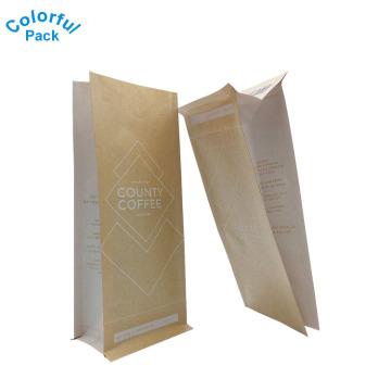 Бумаги 12oz кофе бумаги Kraft Упаковывая с клапаном Дегазирования