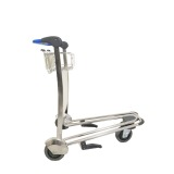 Stainless steel Three Wheels Airport Trolley