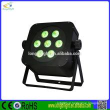 DJ Slim Par Tri 7pcs 3W LED 3-in1 iluminação, caixa de luz branca pura