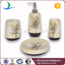 Elegante Brown Tree Design cerâmica casa de banho Gift Set
