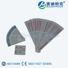 Etiqueta de tira de indicador de esterilización ETO y STEAM