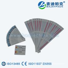 Étiquette de la bande d'indicateur de stérilisation ETO et STEAM