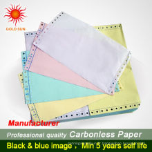 papier de triplicate sans carbone de marque evershine