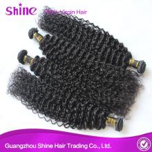 Cheap Raw Brazilian Hair Weaving Kinky Curly Natural Black