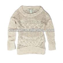 13STC5266 ouvert tricoté femmes crewneck pulls modèles à tricoter