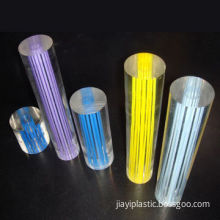 Colored Acrylic Rods, Used for Lighting Accessory, Decorations, 5 to 200mm Diameter