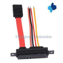 Datenleistung 7p bis 7 + 15p mit Latch SATA Kabel