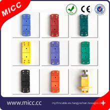 Buena calidad y omega estándar tipo K conector de termopar
