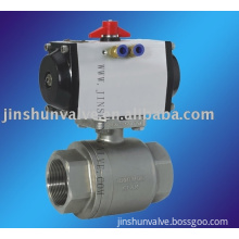 2 pc Pneumatic  stainless steel ball valve(pneumatic ball valve)