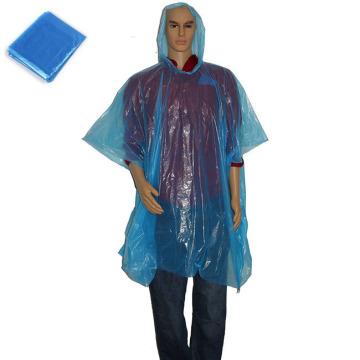 Poncho descartável plástico promocional da chuva